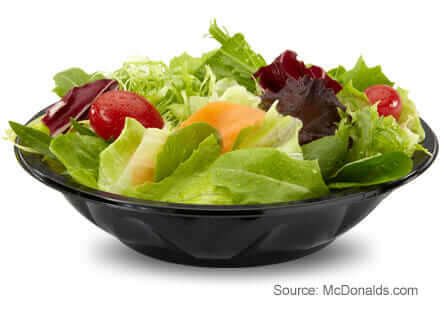 8 McDonald's Healthy Choices   Side Salad   FastFoodMenuPrices.com