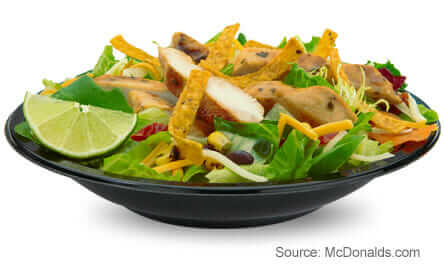 8 McDonald's Healthy Choices   Southwest Grilled Chicken Salad   FastFoodMenuPrices.com