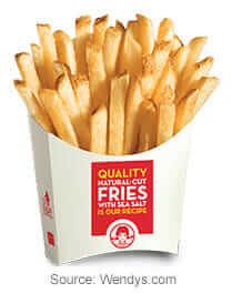 Review of the Wendy's Dollar Menu   Value Size French Fries   Fast Food Menu Prices