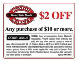 $2 off any $10 order coupon
