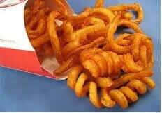 Which Fast Food Chain Gives You the Most Bang for Your Buck   Arby's Curly Fries   Fast Food Menu Prices.com