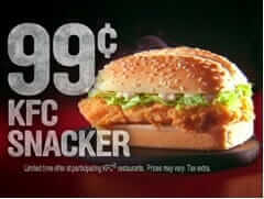 Which Fast Food Chain Gives You the Most Bang for Your Buck   KFC Snacker   Fast Food Menu Prices.com