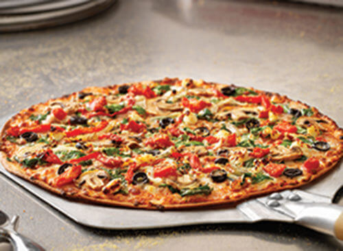 Where to Get the Best Vegan Fast Food Items   Thin Crust Pacific Veggie Pizza   FastFoodMenuPrices.com