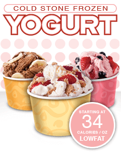 Healthy Choices At Cold Stone Creamery | Frozen Yogurt | FastFoodMenuPrices.com