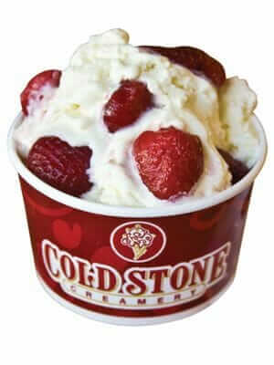 Healthy Choices At Cold Stone Creamery | Sinless Sans Fat Sweet Cream | FastFoodMenuPrices.com