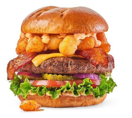 What to Order at Buffalo Wild Wings if You Don't Want Wings | Cheese Curd Bacon Cheeseburger | FastFoodMenuPrices.com