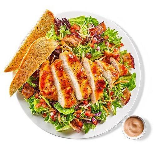 What to Order at Buffalo Wild Wings if You Don't Want Wings | Honey BBQ Chicken Salad | FastFoodMenuPrices.com