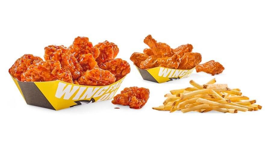 Best Fast Food Meals for the Whole Family   Traditional & Boneless Combo - Buffalo Wild Wings   FastFoodMenuPrices.com