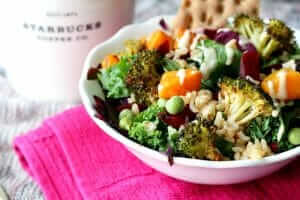 The Best Starbucks Lunch Choices | Hearty Veggie and Brown Rice Salad Bowl | FastFoodMenuPrices.com