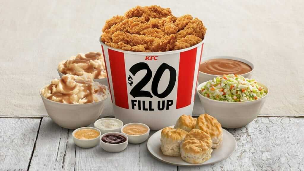 Order the KFC Menu Specials for the Best Value for Your Money | $20 Fill Up | FastFoodMenuPrices.com
