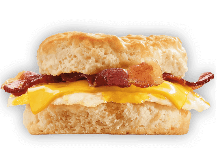 15 Meals At Jack In The Box For 500 Calories Or Less | Bacon, Egg, and Cheese Biscuit | FastFoodMenuPrices.com