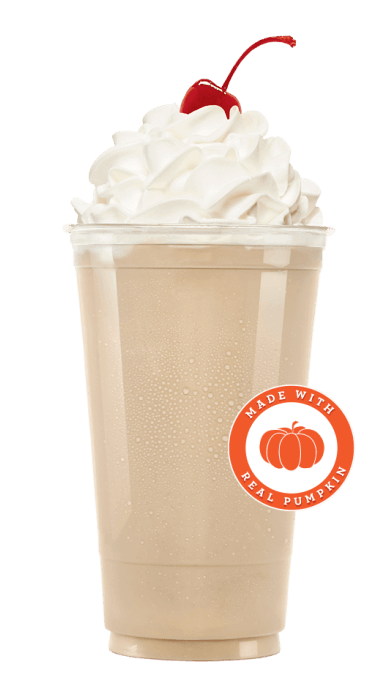 9 Binge-Worthy Fast Food Sweets For The Fall | Pumpkin Spice Shake | FastFoodMenuPrices.com