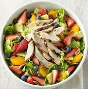 12 Healthy Fast Food Options   Strawberry Poppyseed and Chicken Salad   Fast Food Menu Prices.com