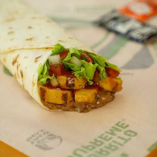 Top 11 Low-Calorie Fast Food Options   Taco Bell Chicken Burrito   FastFoodMenuPrices.com