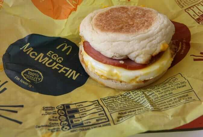 Top 11 Low-Calorie Fast Food Options   McDonald's Egg McMuffin   FastFoodMenuPrices.com
