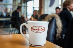 Tim Hortons is one of the fast food restaurants open on Thanksgiving in 2019