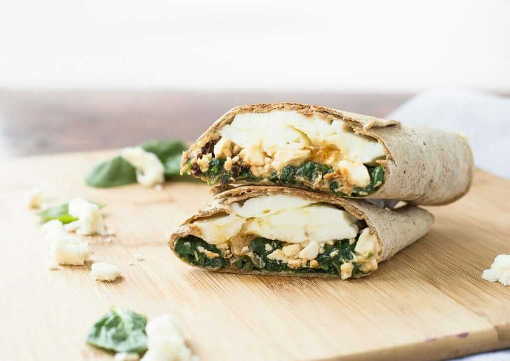 Healthiest Fast Food Breakfast Items   Spinach, Feta, Egg White Wrap   FastFoodMenuPrices.com