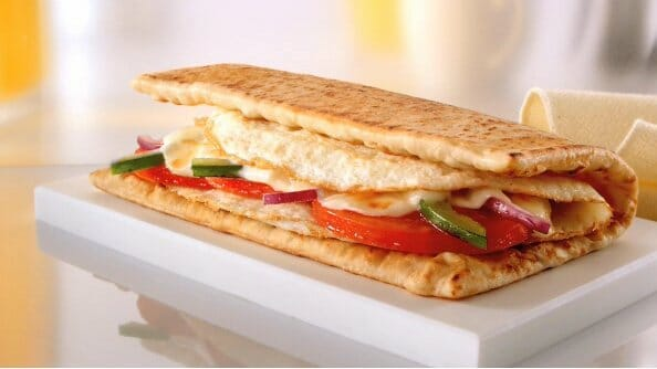 Healthiest Fast Food Breakfast Items   Egg and Cheese Sandwich   FastFoodMenuPrices.com