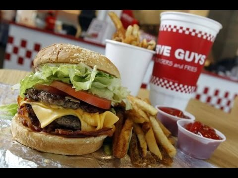 14 of the Best Fast Food Burgers | Five Guys Bacon Cheeseburger | FastFoodMenuPrices.com