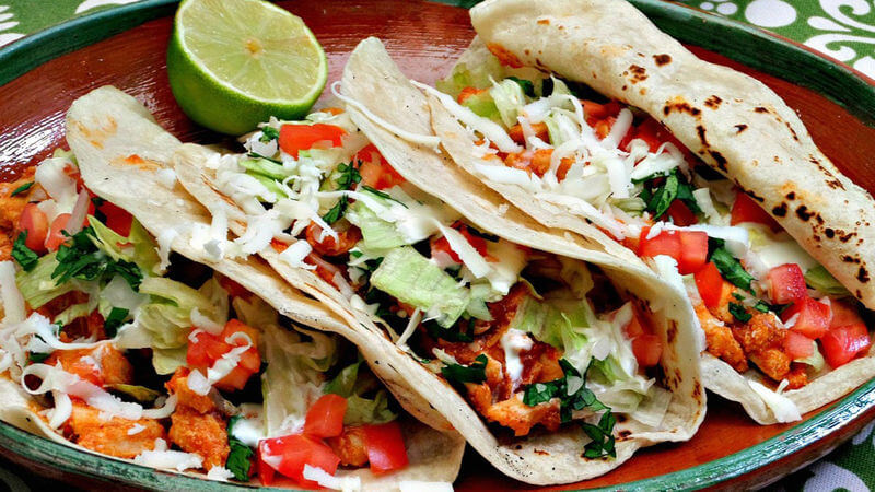 Best Fast Food in Each State   Chipotle Chicken Soft Tacos   FastFoodMenuPrices.com