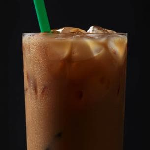 The Healthiest Options at Starbucks | Iced Skinny Cinnamon Dolce Latte | FastFoodMenuPrices.com