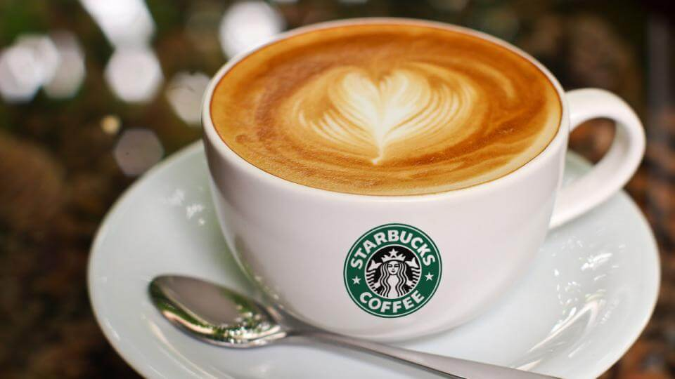The Healthiest Options at Starbucks | Flat White with Nonfat Milk or Almond Milk | FastFoodMenuPrices.com