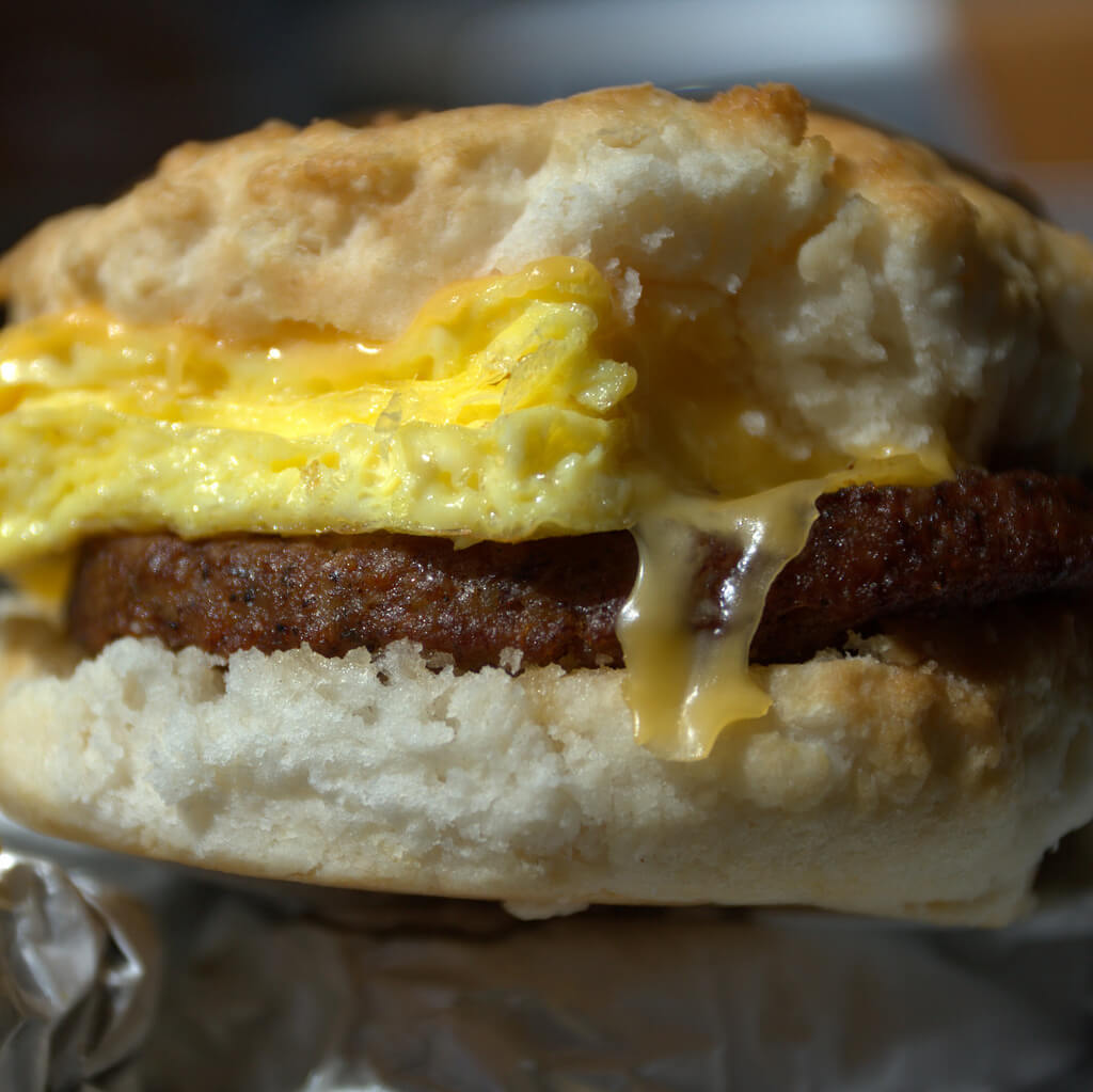Chick-fil-A Breakfast Menu | Sausage, egg, and cheese biscuit | FastFoodMenuPrices.com