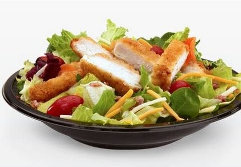 8 McDonald's Healthy Choices   Bacon Ranch Grilled Chicken Salad   FastFoodMenuPrices.com