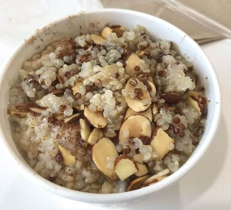 Best Fast Food Breakfast Choices   Steel Cut Oatmeal with Almonds, Quinoa, and Honey   FastFoodMenuPrices.com
