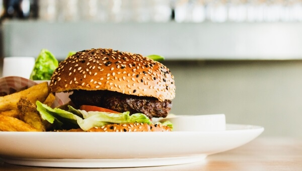 9 Meatless Burgers That Taste Just Like the Real Thing   Red Robin Impossible Burger   FastFoodMenuPrices.com