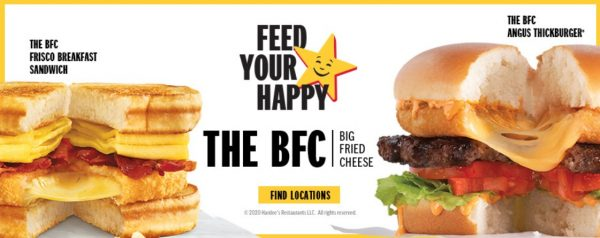 BFC Thickburger and Frisco Breakfast Sandwich